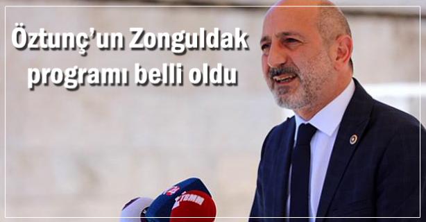 Öztunç Zonguldak'a geliyor