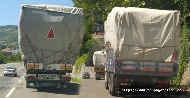 Ağır tonajlı araçlar milletin malına zarar veriyor