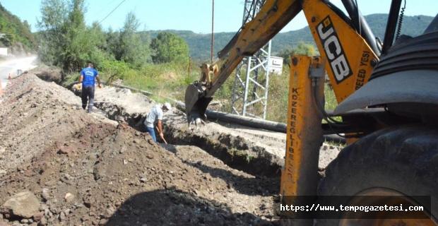 OSB'ye verilecek 6 kilometrelik su hattının yapımına başlandı
