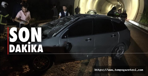 Tünel çıkışında kaza...