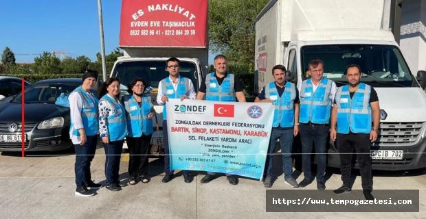 ZONDEF'den sel bölgelerine yardım desteği