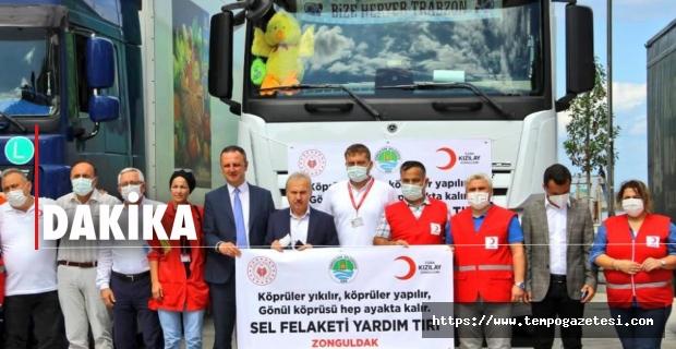 Zonguldak'tan sel bölgesine 6 milyonluk destek