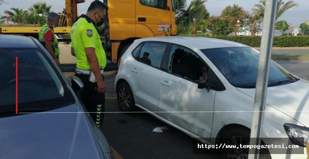 Bisiklet otomobile çarptı: Sürücü yaralandı