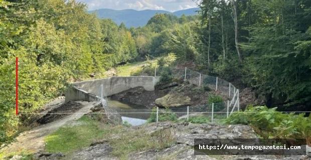 Esentepe köyünde baraj çalışması...