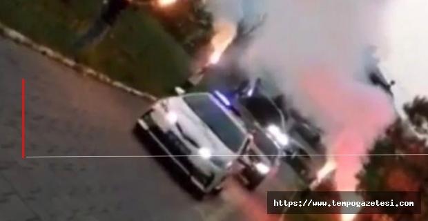 Gelin arabasına Polis araçları eskortluk yaptı