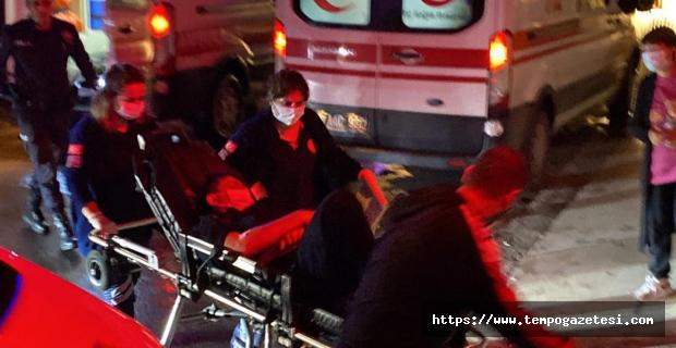 Kanlar içinde otobüs durağında bulundu...