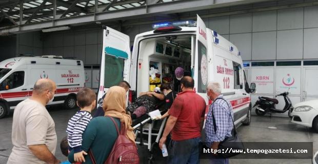 Kazada 4 kişi yaralandı...