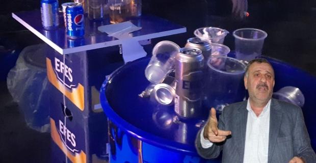 Konser alanında su gibi içki tüketildi
