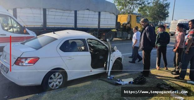 Trafik kazasında 3 kişi yaralandı...