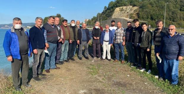 Çimento yükleme iskelesine tepki: Eylem yaptılar
