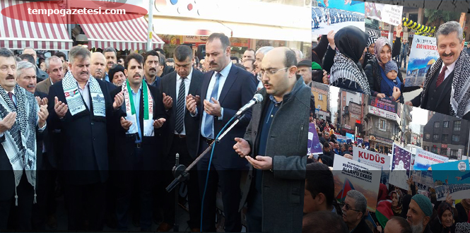 AK Parti'den 'Kudüs Kırmızı Çizgimizdir' mitingi!..
