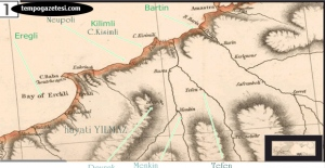 300 Yıllık Zonguldak haritasında...