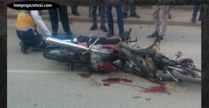 Sanayi yolunda kaza... 2 Kişi ağır yaralı...