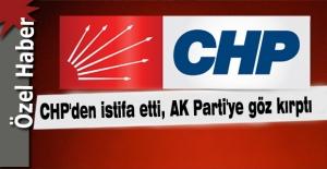 """Flaş… """"Başkana destek olacağım"""" dedi, CHP'den istifa etti…"""