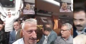 AK Parti, seçim otobüsünde havaya girdi...