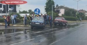 Çaydeğirmeninde trafik kazası...