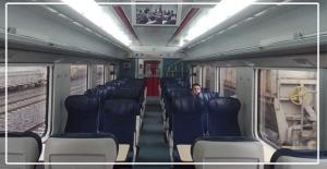 4 Vagonlu 256 yolcu kapasiteli Tren...