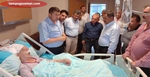AK Parti'den geçmiş olsun ziyareti…