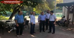 Vali Çınar, Tenis Kortlarında inceleme yaptı