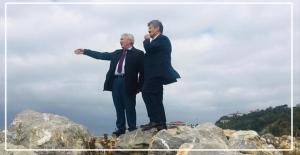 AK Parti İl Başkanı, Kozlu da sahil çalışmalarını inceledi..