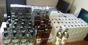 Gökçebey'de kaçak sigara ve alkol operasyonu!..