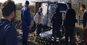 Kafa kafaya çarpıştılar. 4 kişi Hastaneye kaldırıldı