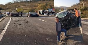Karamanda kaza: İki kişi ağır...