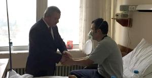 Milletvekili Türkmen, yaralı madencileri ziyaret etti