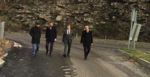 AK Parti, Beycumada tehlikeli yolu inceledi!..
