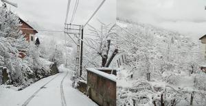 Köylerden en güzel kar fotoğrafları…