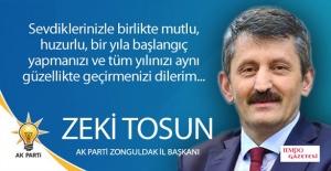 Zeki Tosun, Yeni yılı kutladı...
