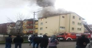 4 Katlı evde yangın çıktı…
