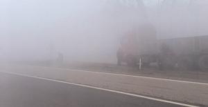 Yoğun sis sürücüleri olumsuz etkiledi