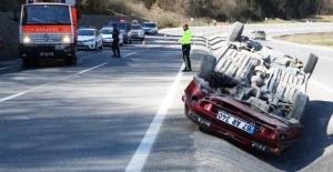 Ilıksu#039;da trafik kazası...