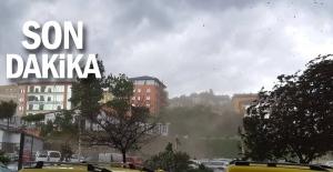 Zonguldakta fırtına çıktı…