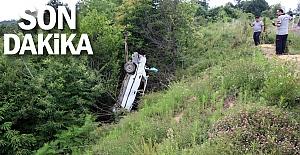 Araba şarampole yuvarlandı... Ölü ve yaralılar var...