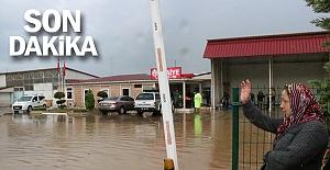 10'larca ev, işyeri, otomobil sular altında kaldı