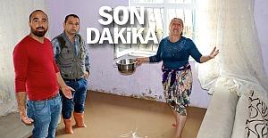 Ereğli'de sağanak; evi su bastı