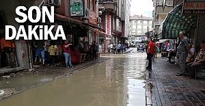 Yağış su baskınlarına neden oldu