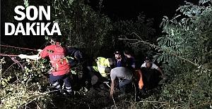 Baraja uçan otomobildeki 4 kişinin cesedi çıkartıldı