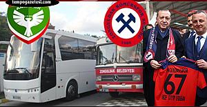 Başkan Alan müjdeyi verdi…  Zonguldakpor'a yeni otobüs geliyor…