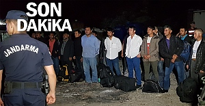 Çöplükte 22 kaçak göçmen yakalandı