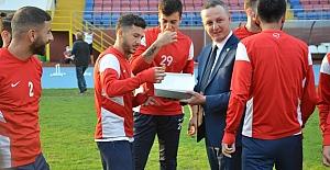 Başkan Alan Zonguldakspor idmanında...
