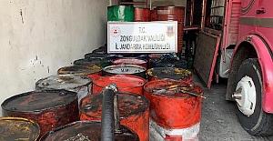 Zonguldak'ta, kaçak mazot yapımında kullanılan 10 bin litre 'atık yağ' ele geçirildi
