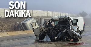 Feci kazada yaralanan şahıs Zonguldak'a sevk edildi