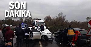 Filyos#039;da trafik kazası...