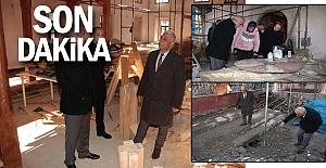 Tarihi Cami'de restorasyon çalışmaları sürüyor