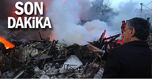 Yangın büyük, Vali Erdoğan olay yerinde