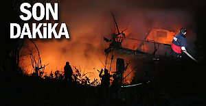 Zonguldak#039;ta ev yangınında mahalleli...