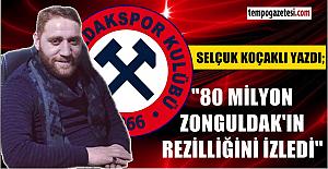 80 milyon Zonguldak'ın rezilliğini izledi...